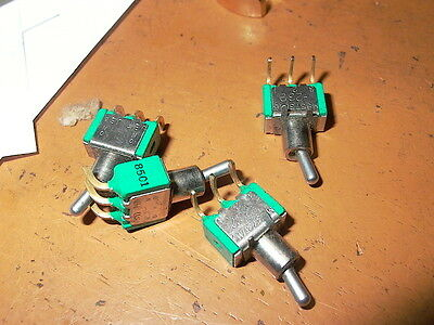 Lot Of Four J B T Small Toggle  Switches # 1     -232