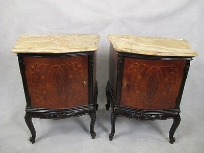 Antique pair of French Louis XV style nightstands # 11343