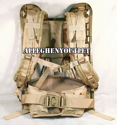 NEW Military MOLLE II Rifleman DESERT TAN FRAME, SHOULDER STRAPS & BELT 4th Gen