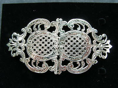 Hallmarked Silver Nurses Buckle. Reconditioned Silver Nurses Buckle. Circa 1898