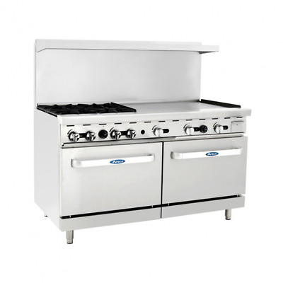 "60"" inch (5 foot) 4 Burner Range Top with Double Oven & 36"" right side Griddle"