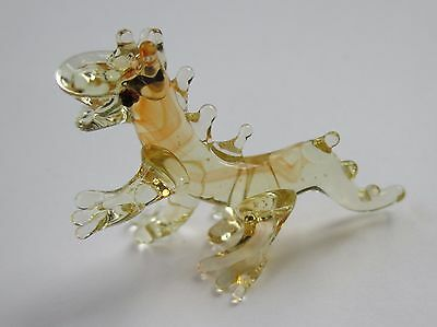 a chinese Dragon MINIATURE GLASS FIGURINE animal mythical symbol power strength