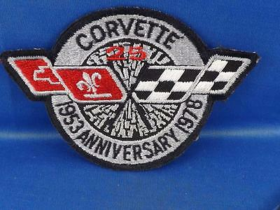 CORVETTE 1978 25th ANNIVERSARY PATCH BADGE VINTAGE RACE CAR COLLECTOR