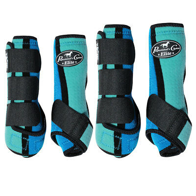 Lrg Professional Choice Elite Sports Horse Medicine Boots 4 Pack Royal Turquoise
