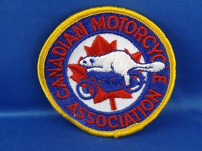 Canadian Motorcycle Association Patch Badge Beaver Riding Bike Vintage Collector