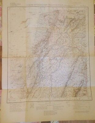 Afghanistan, Baluchistan, Chaman 1919 British Military Map 4 inches to Mile