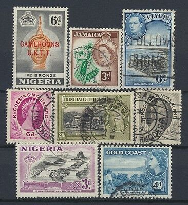 No: 48726 - BRITISH COMMONWEALTH - LOT OF 8 OLD STAMPS - USED!