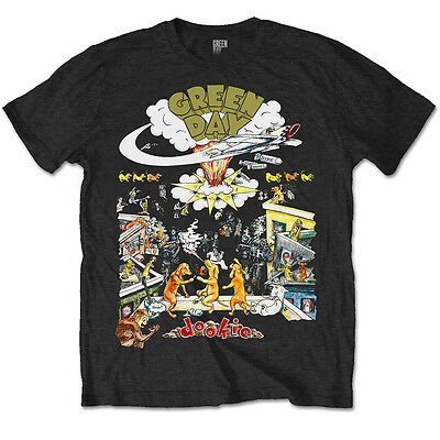 Green Day T Shirt 1994 Dookie Tour Official Black Mens Unisex Tee NEW Rock Merch