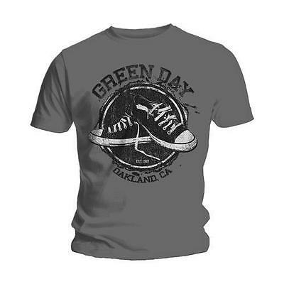 Green Day T Shirt Converse Shoes Logo Official Licensed Mens Grey Rock Merch