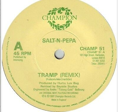 "SALT 'N' PEPA 'Tramp / Push It' (CHAMP 12-51) Vinyl 12"" Single. UK 1987 - VG+"