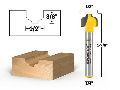 """1/2"""" Ogee Groove Router Bit - 1/4"""" Shank - Yonico 14976q"""
