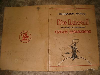 De Laval Cream Separators Instruction Manual New Worlds Standard Series 20 Pages