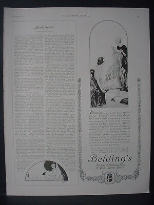1922 Belding's Silks for Gowns Linings Lingerie Fashion Vintage Print Ad 12088