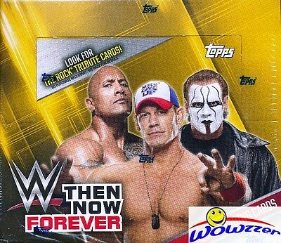 2016 Topps WWE Wrestling Then, Now, Forever MASSIVE 24 Pack Sealed Retail Box !