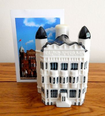 KLM Blue Delft Miniature House No 97 with Collector Card