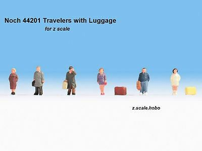 Noch 44201 Z Scale Figure Set Commuters Travelers with Luggage *NEW $0 SHIPPING