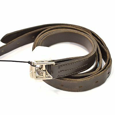 Used Wide Stirrup Leathers - Sz Adult - Brown #78013