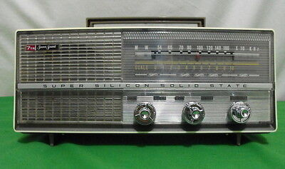 7Tr Sweet Sound Bm 709 Mw Am Transistor Radio Dc Portable Gold Star Vtg Korea 75