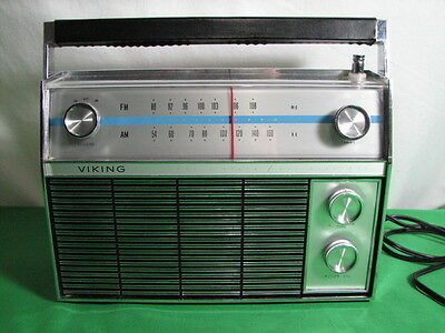Viking M9Tru310 Am Fm Transistor Radio Vintage 1970S Made In Japan Ac Dc
