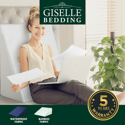 Giselle Bedding 1x 2x Memory Foam Wedge Pillow Cushion Back Support Waterproof