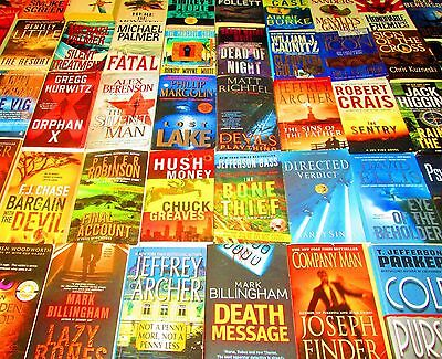 MIXED MALE AUTHOR Lot of 50 -SOFTCOVERS - Crais, Palmer, Higgins,Follett, Archer