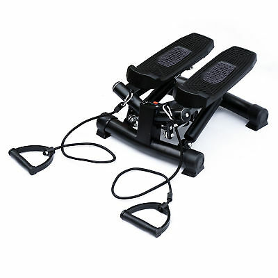 Mini Stepper Gym Exercise Leg Thigh Toning Workout Fitness Stair w/Arm Cord
