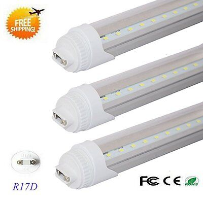 10 Pack 8 ft. 40w R17D Double-End Power T8 T12 LED Tube Light 6500K Bright White