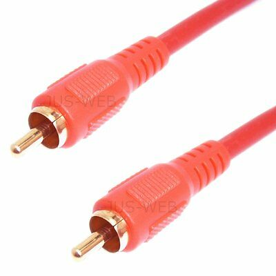 Selectable Audio Cable Digital SPDIF Koax Gold Plated RCA Plug Coaxial RCA