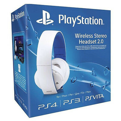 Sony PS4 Wireless Stereo Headset 2.0 weiß 7.1-Raumklang 3,5mm