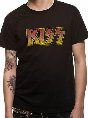 KISS T Shirt Vintage Classic Logo Official Licensed Black Mens Tee Rock Merch