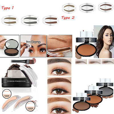 new Natural Eyebrow Powder Makeup Brow Stamp Palette Delicated Shadow Definition