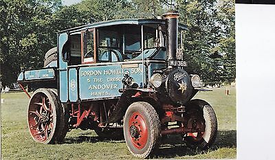 lo traction engine steam lorry postcard england unlocated