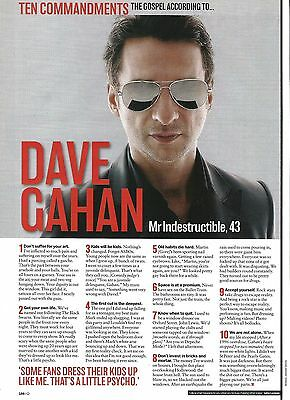 DEPECHE MODE - DAVE GAHAN '10 commandments' UK ARTICLE / clipping