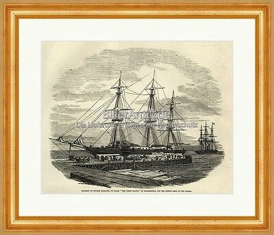 Shipment of Wooden Barracks White Falcon Southampton Holzstich The Empire 0020