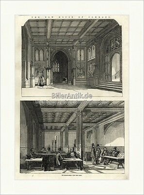 The New House of Commons Division Lobby Smoking Room Holzstich The Empire 0018