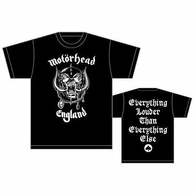 Motorhead T Shirt England Official Mens Black Tee Everything Louder Rock Merch