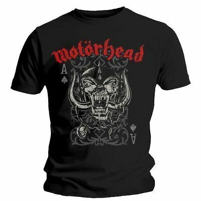 Motorhead T Shirt Playing Card Overkill Officially Licensed Mens Tee Rock Merch