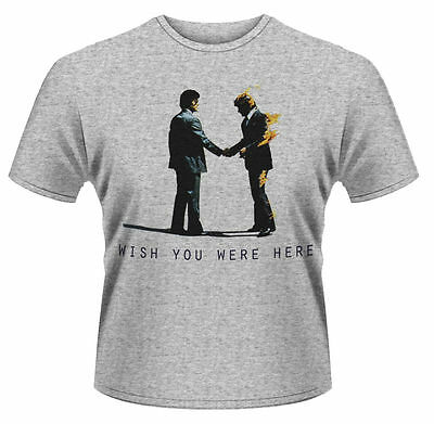 Pink Floyd T Shirt Wish You Were Here Officially Licensed Mens Grey Rock Merch