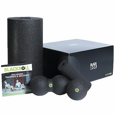 Blackroll Blackbox Box Set Self Massage Muscle Tissue Foam Roller Duoball Black