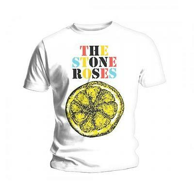 The Stone Roses T Shirt Lemon Official White Mens Tee NEW Ian Brown Rock Merch