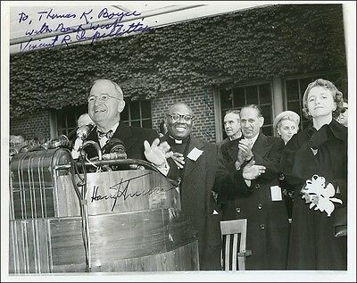 Harry S Truman - Inscribed Photograph Signed With Co-Signers