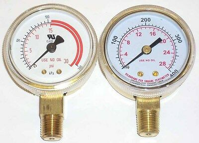 "2"" Acetylene Regulator Gauge Set for Victor Harris New!"
