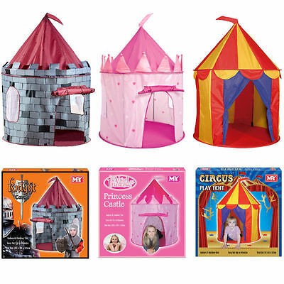 Kids Pop Up Play Tent Wendy House Castle Princess Circus Playhouse