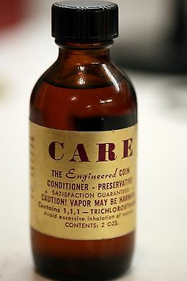 Original Un-opened bottle of old CARE Coin Conditioner/Cleaner