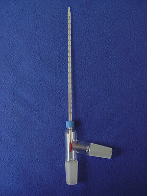 Threaded 3-way distillation adapter & 200 C thermometer non-Hg