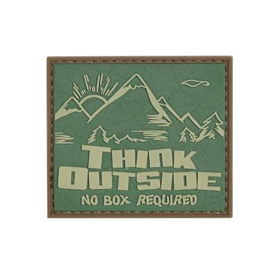 """5ive Star Gear Think Outside, No Box Required PVC Morale Patch, 2.5"""" x 2"""""""