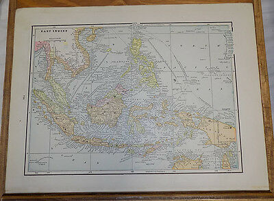 1891 Antique CRAM Map///EAST INDIES, b/w RUSSIA IN ASIA