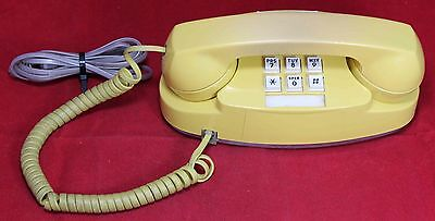 Western Electric Princess Yellow Push-Button Telephone - Phone - Vintage - Works