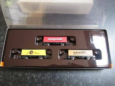 Marklin spur z scale/gauge Limited Edition 3 Container Car Set. (Rare).