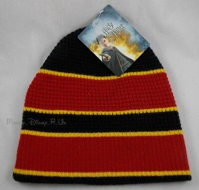 598af26012e New Harry Potter Hogwarts Stripped Crest Logo Knit Beanie Stocking Cap Hat